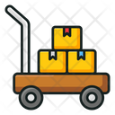 Dolly Pushcart Delivery Cart Icon