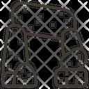 Dolmen Stone Age Primitive Icon