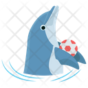 Dolphin Game Jumping Cartoon Jumping Dolphin Icon