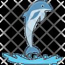 Cartoon Dolphin Jumping Cartoon Jumping Dolphin Icon