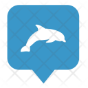 Dolphin Map Location Icon