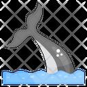 Dolphin Tail Aquatic Animal Marine Animal Icon