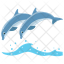 Dolphins Jumping Cartoons Jumping Dolphin Icon