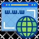 Domain Internet Digital Icon