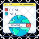 Domain Registration Domain Hosting Domain Name Icon