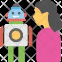 Robotic Domestic Help Icon