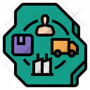 Domestic Supply Chain Local Suppliers Supply Chain Icon