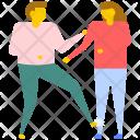 Hitting Couple Fight Icon