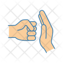 Abuse Hand Stop Icon