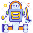 Domestic Robot Artificial Intelligence Technology Assistance Icon