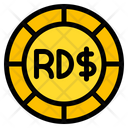 Dominican Peso Coin Currency Icon