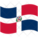 Flag Country Dominican Republic Icon