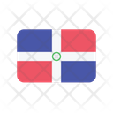 Dominican Republic Flag Country Icon