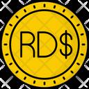 Dominican Republic Peso Coin Money Icon