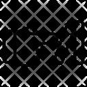 Domino Effect Bankrupt Crisis Icon