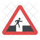 Don't Jump Sign Icon