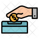 Donate Coin Hand Icon