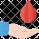 Donate Blood Drop Icon