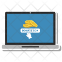 Donate Money Laptop Icon