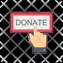 Heart Donation Hand Icon
