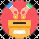 Money Box Donation Box Charity Box Icon