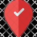 Done Location Navigation Check Icon