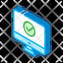 Computer Monitor Web Icon