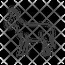 Donkey Domestic Animal Farm Animal Icon