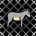 Donkey Domestic Animal Icon