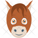 Donkey Animal Face Icon