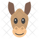 Donkey Face Animal Mammal Icon