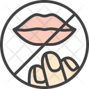 Dont Touch Lips Icon