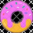 Sweet Donut Dessert Icon