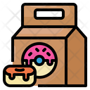 Donut Package Delivery Icon