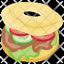 Donut Burger Glazed Icon