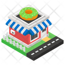 Marketplace Outlet Donut Shop Icon