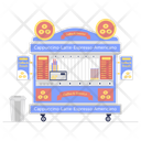 Donut Shop Cookies Bakery Biscuit Stall Icon