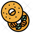 Bagel Baker Bakery Icon