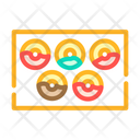 Donuts Plate Color Icon