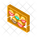 Donuts Plate Isometric Icon