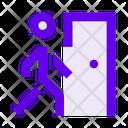 Man Person Door Icon