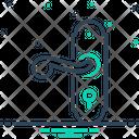 Door Handle Lock Front Icon