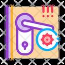 Door Handle Cleaning Icon