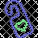 Door Hanger Door Tag Heart Knob Icon