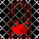 Honeymoon Door Knob Heart Icon