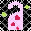 Door Lock Do Not Disturb Heart Icon