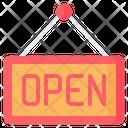 Door Open Sign Icon