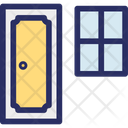 Door With Window Icon
