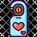 Doorknob Love And Romance Door Hanger Icon
