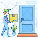 Home Delivery Doorstep Delivery Delivery Services Icon